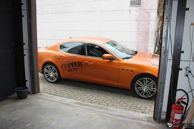 Maserati ghibli satin canyon copper, Carwrapping door Wrapmyride.nu Foto-nr:11595, ©2021