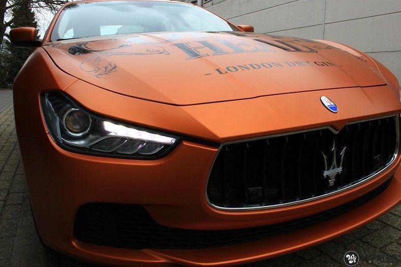 Maserati ghibli satin canyon copper, Carwrapping door Wrapmyride.nu Foto-nr:11603, ©2021