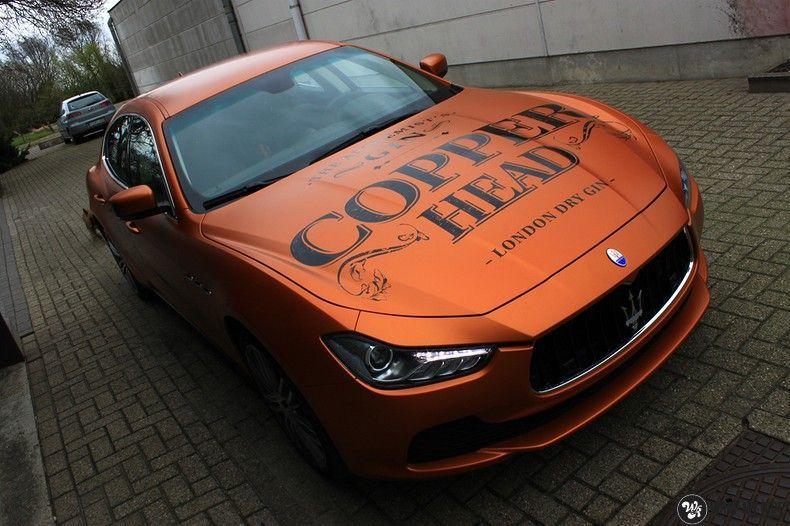 Maserati ghibli satin canyon copper, Carwrapping door Wrapmyride.nu Foto-nr:11604, ©2021