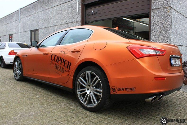 Maserati ghibli satin canyon copper, Carwrapping door Wrapmyride.nu Foto-nr:11605, ©2021