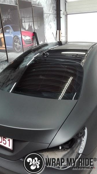 MB CLA mat zwart, Carwrapping door Wrapmyride.nu Foto-nr:8052, ©2021