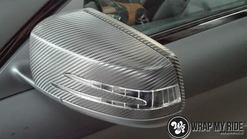 MB CLA mat zwart, Carwrapping door Wrapmyride.nu Foto-nr:8061, ©2021