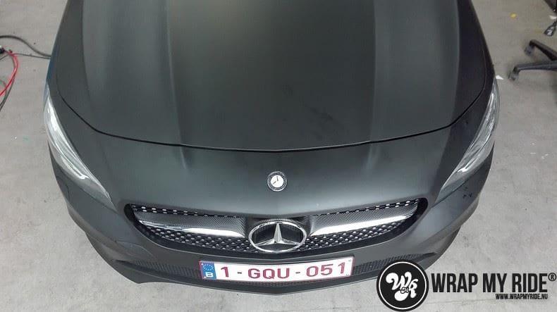 MB CLA mat zwart, Carwrapping door Wrapmyride.nu Foto-nr:8064, ©2021