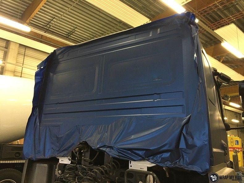 Mercedes Actros Avery Matte Metallic Bleu, Carwrapping door Wrapmyride.nu Foto-nr:11053, ©2021