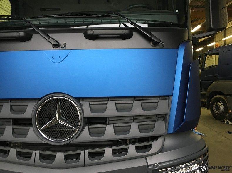Mercedes Actros Avery Matte Metallic Bleu, Carwrapping door Wrapmyride.nu Foto-nr:11048, ©2021