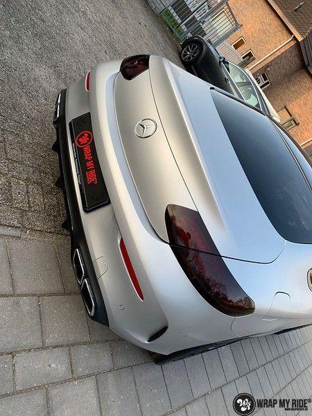 Mercedes C-coupe satin white aluminium, Carwrapping door Wrapmyride.nu Foto-nr:12719, ©2021