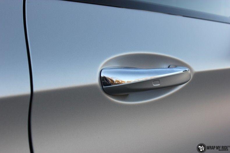 Mercedes C-coupe satin white aluminium, Carwrapping door Wrapmyride.nu Foto-nr:12736, ©2021