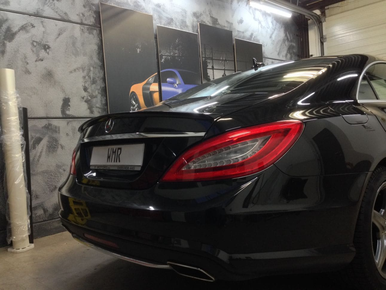 Mercedes CLS met White Satin Pearl Wrap, Carwrapping door Wrapmyride.nu Foto-nr:6174, ©2021