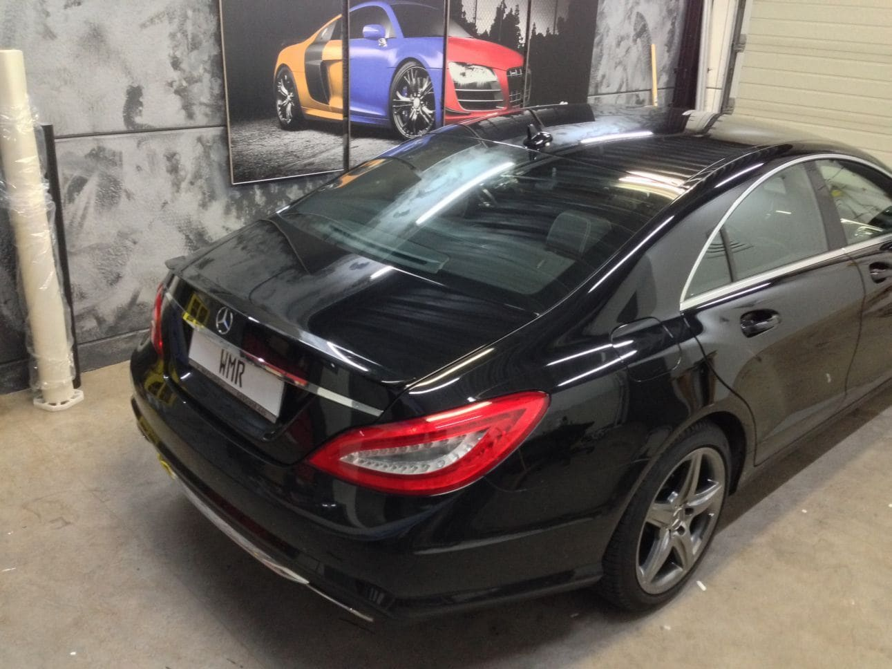 Mercedes CLS met White Satin Pearl Wrap, Carwrapping door Wrapmyride.nu Foto-nr:6175, ©2021