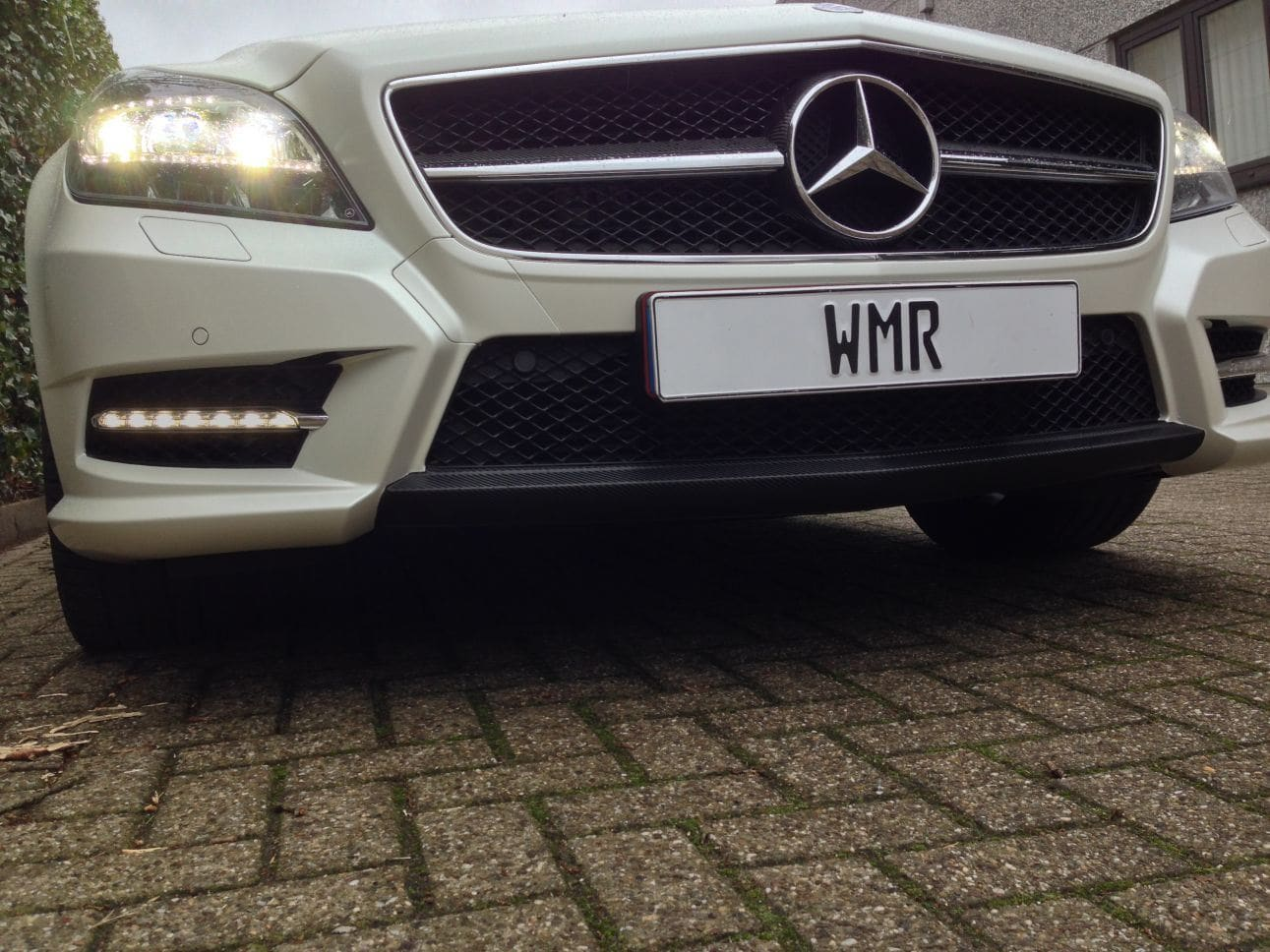 Mercedes CLS met White Satin Pearl Wrap, Carwrapping door Wrapmyride.nu Foto-nr:6207, ©2021