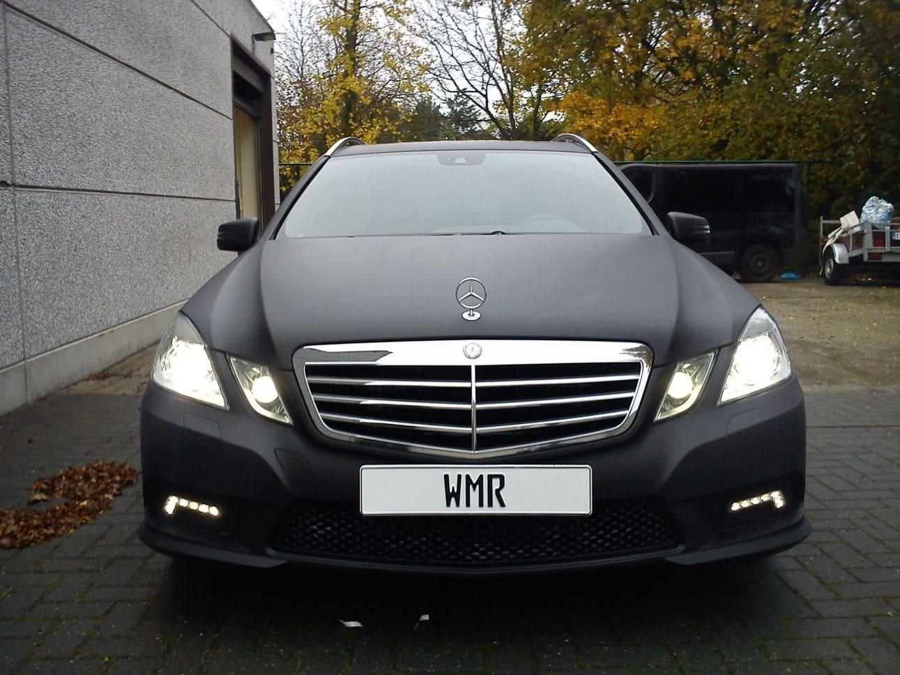 Mercedes E320 met Mat Zwarte Wrap, Carwrapping door Wrapmyride.nu Foto-nr:6226, ©2021