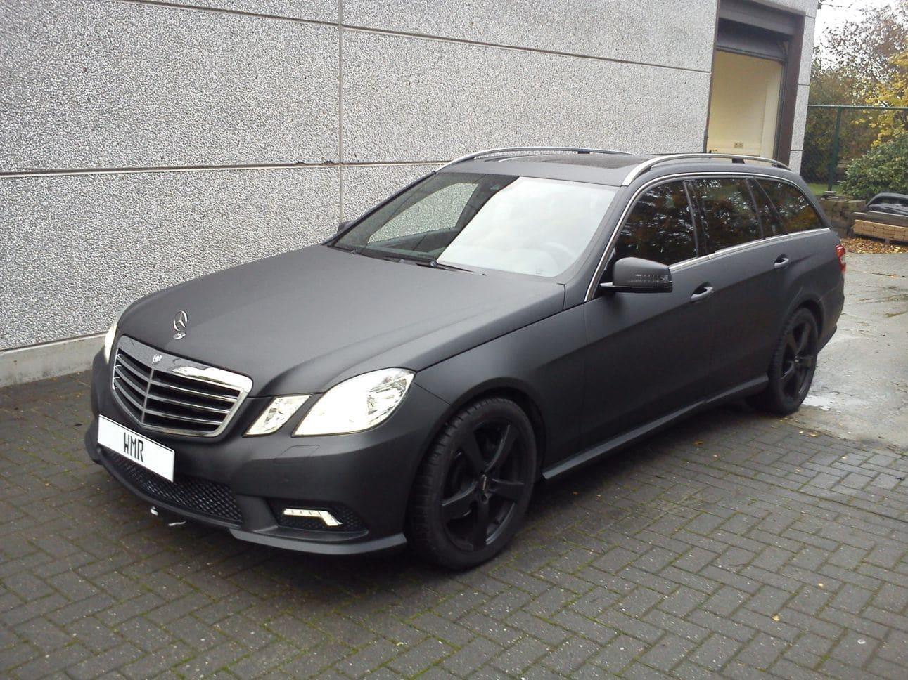 Mercedes E320 met Mat Zwarte Wrap, Carwrapping door Wrapmyride.nu Foto-nr:6227, ©2021