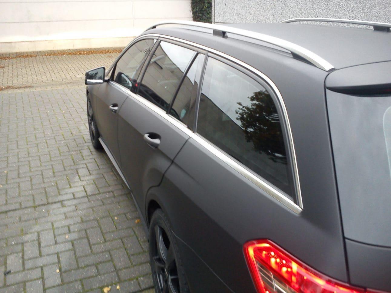 Mercedes E320 met Mat Zwarte Wrap, Carwrapping door Wrapmyride.nu Foto-nr:6230, ©2021