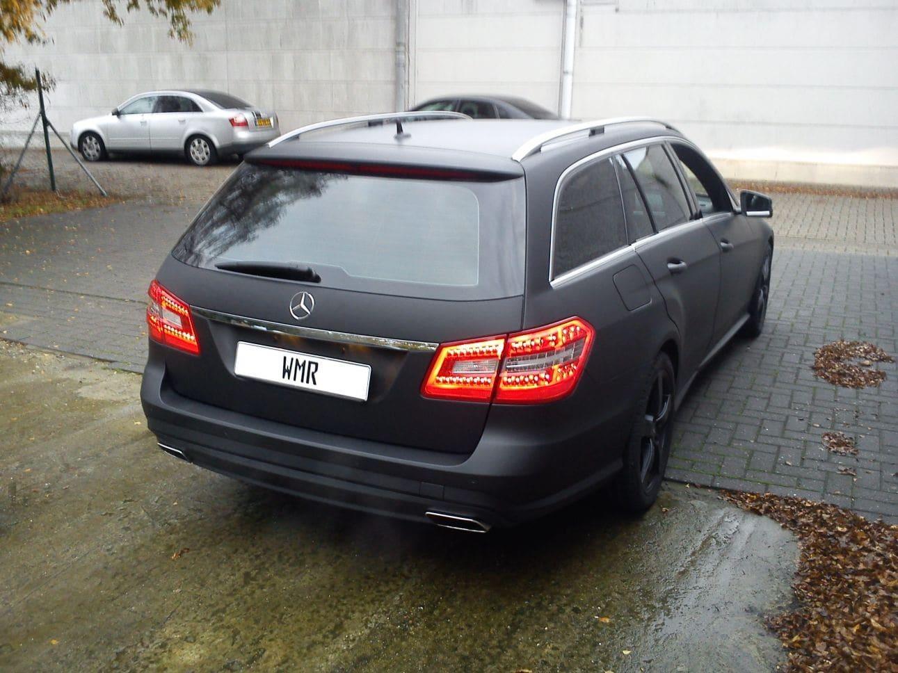 Mercedes E320 met Mat Zwarte Wrap, Carwrapping door Wrapmyride.nu Foto-nr:6232, ©2021