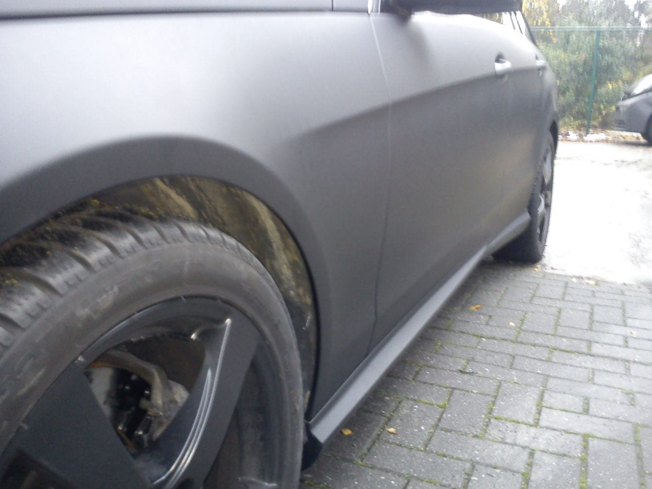 Mercedes E320 met Mat Zwarte Wrap, Carwrapping door Wrapmyride.nu Foto-nr:6233, ©2021