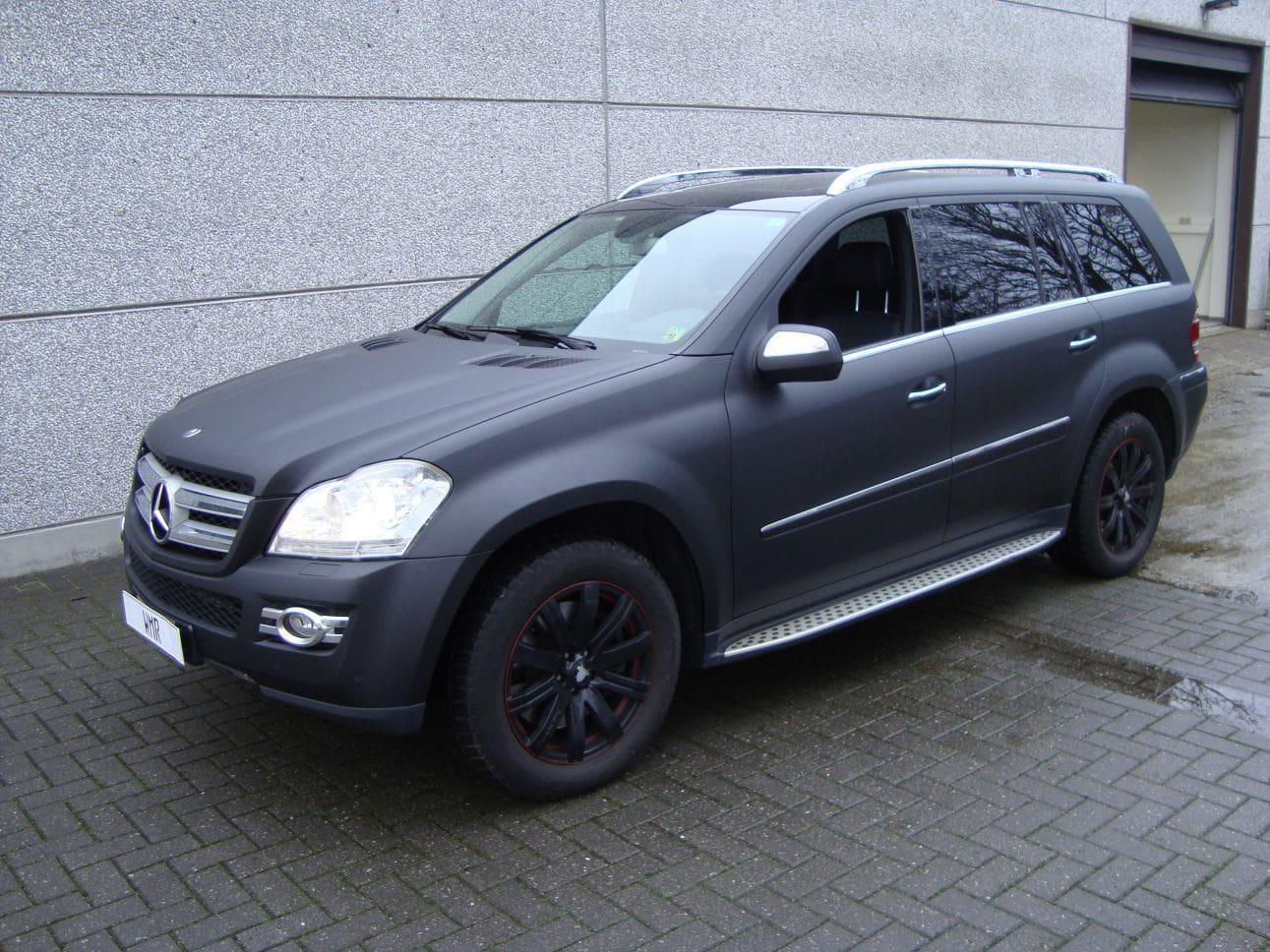 Mercedes GL met Mat Zwarte Wrap, Carwrapping door Wrapmyride.nu Foto-nr:6278, ©2021