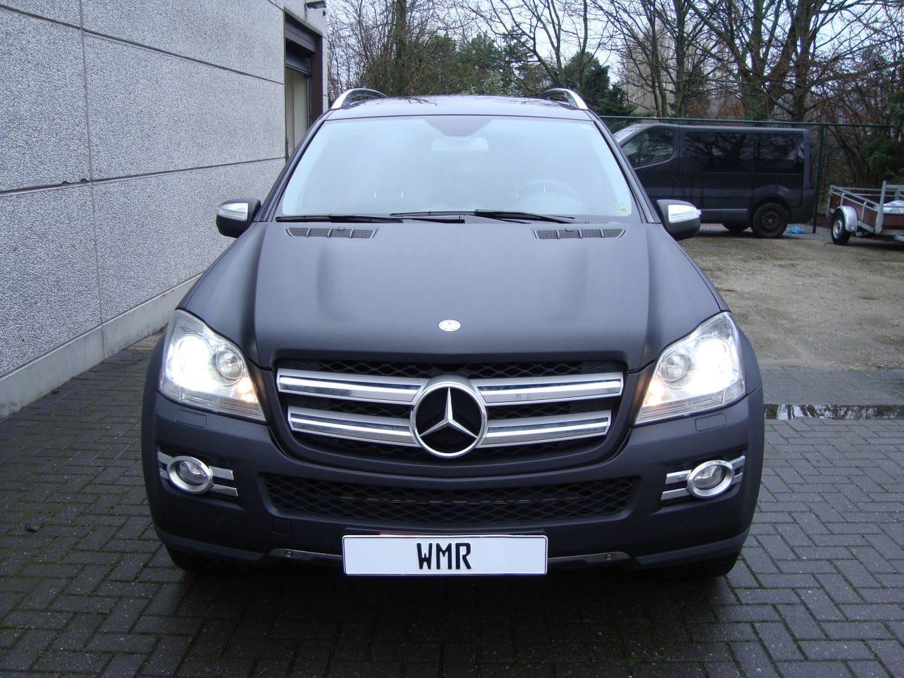 Mercedes GL met Mat Zwarte Wrap, Carwrapping door Wrapmyride.nu Foto-nr:6279, ©2021