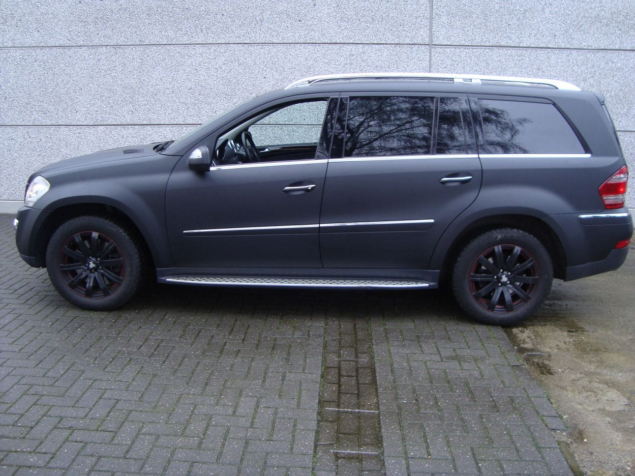 Mercedes GL met Mat Zwarte Wrap, Carwrapping door Wrapmyride.nu Foto-nr:6282, ©2021