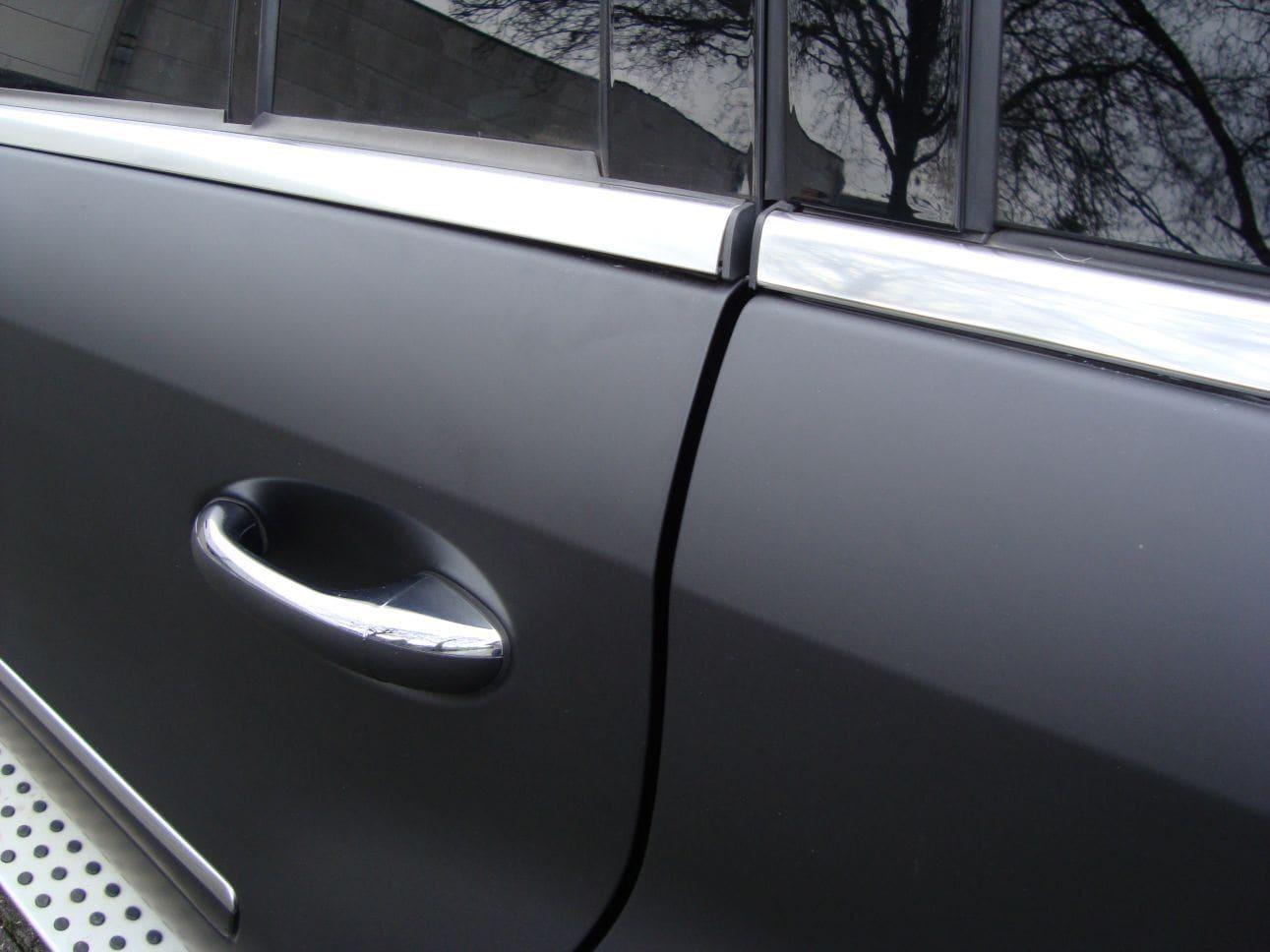 Mercedes GL met Mat Zwarte Wrap, Carwrapping door Wrapmyride.nu Foto-nr:6283, ©2021