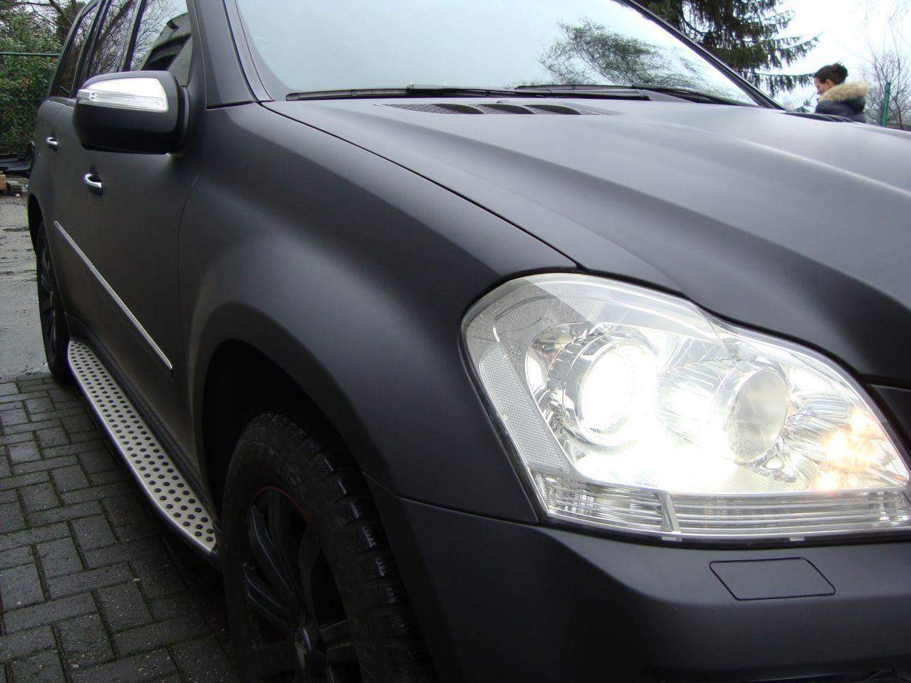 Mercedes GL met Mat Zwarte Wrap, Carwrapping door Wrapmyride.nu Foto-nr:6285, ©2021