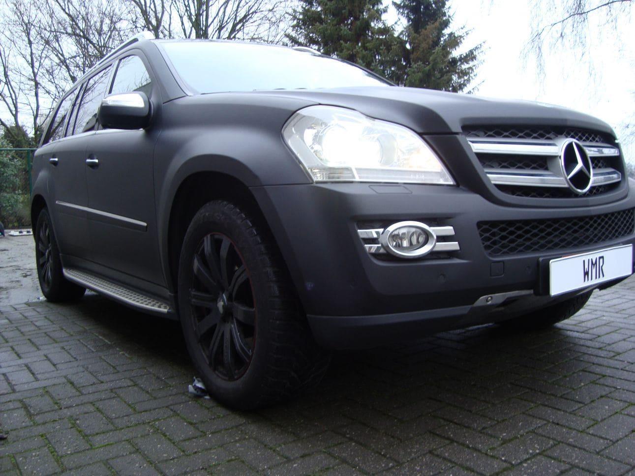 Mercedes GL met Mat Zwarte Wrap, Carwrapping door Wrapmyride.nu Foto-nr:6286, ©2021