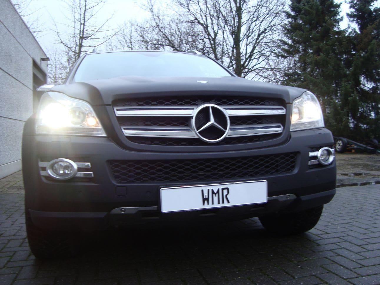 Mercedes GL met Mat Zwarte Wrap, Carwrapping door Wrapmyride.nu Foto-nr:6287, ©2021