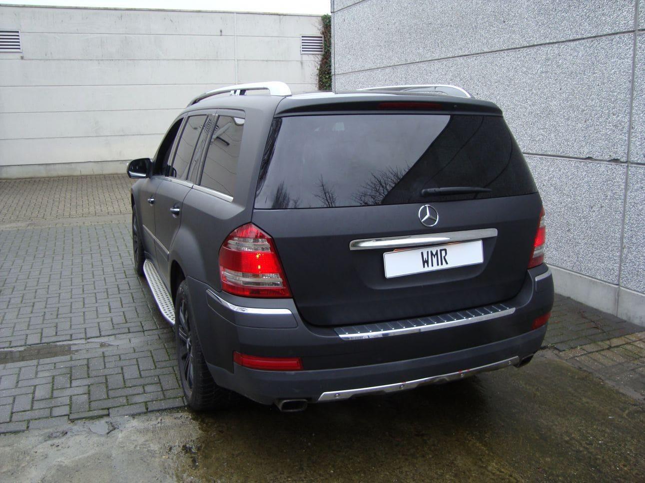 Mercedes GL met Mat Zwarte Wrap, Carwrapping door Wrapmyride.nu Foto-nr:6288, ©2021