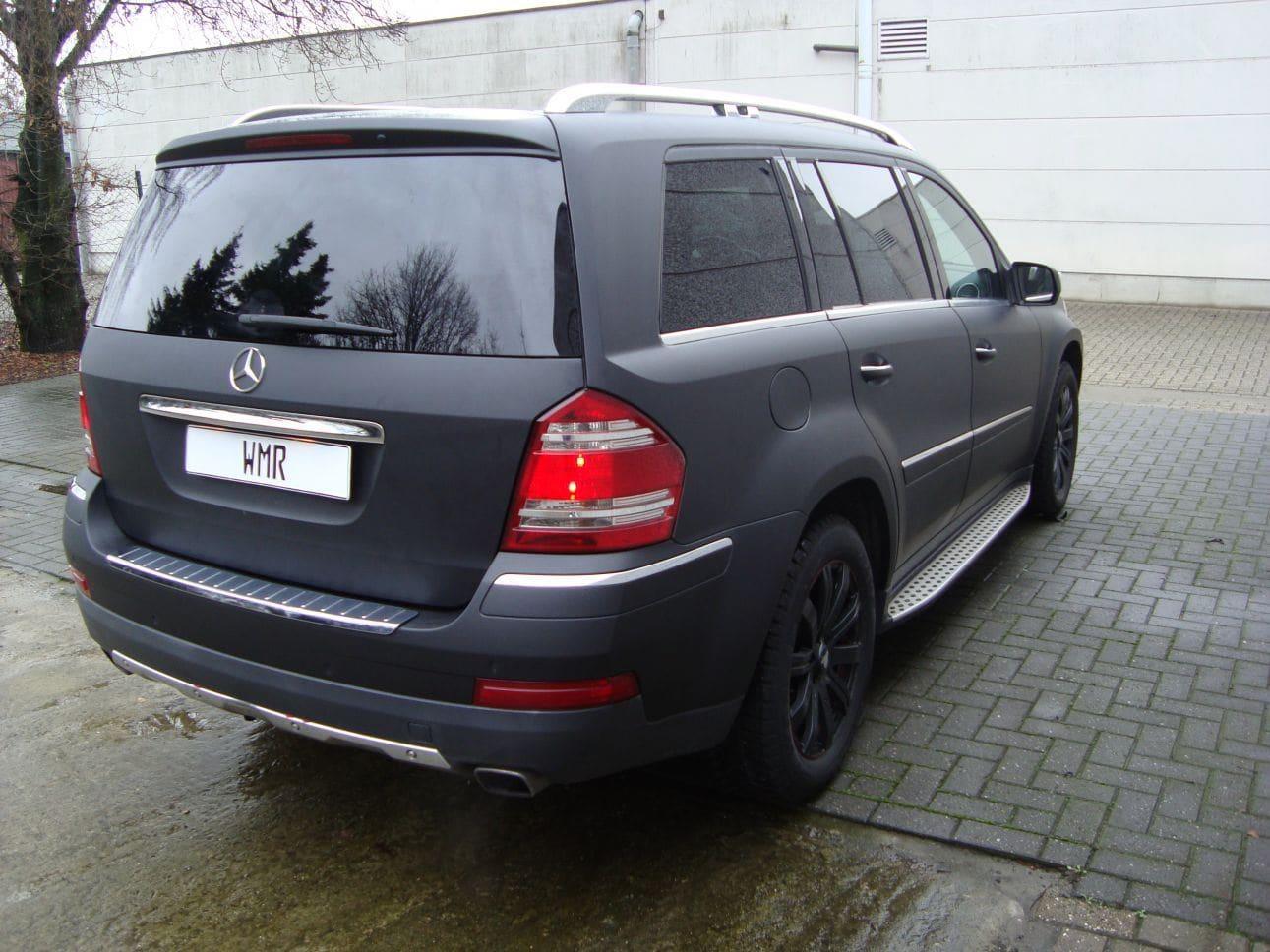 Mercedes GL met Mat Zwarte Wrap, Carwrapping door Wrapmyride.nu Foto-nr:6290, ©2021
