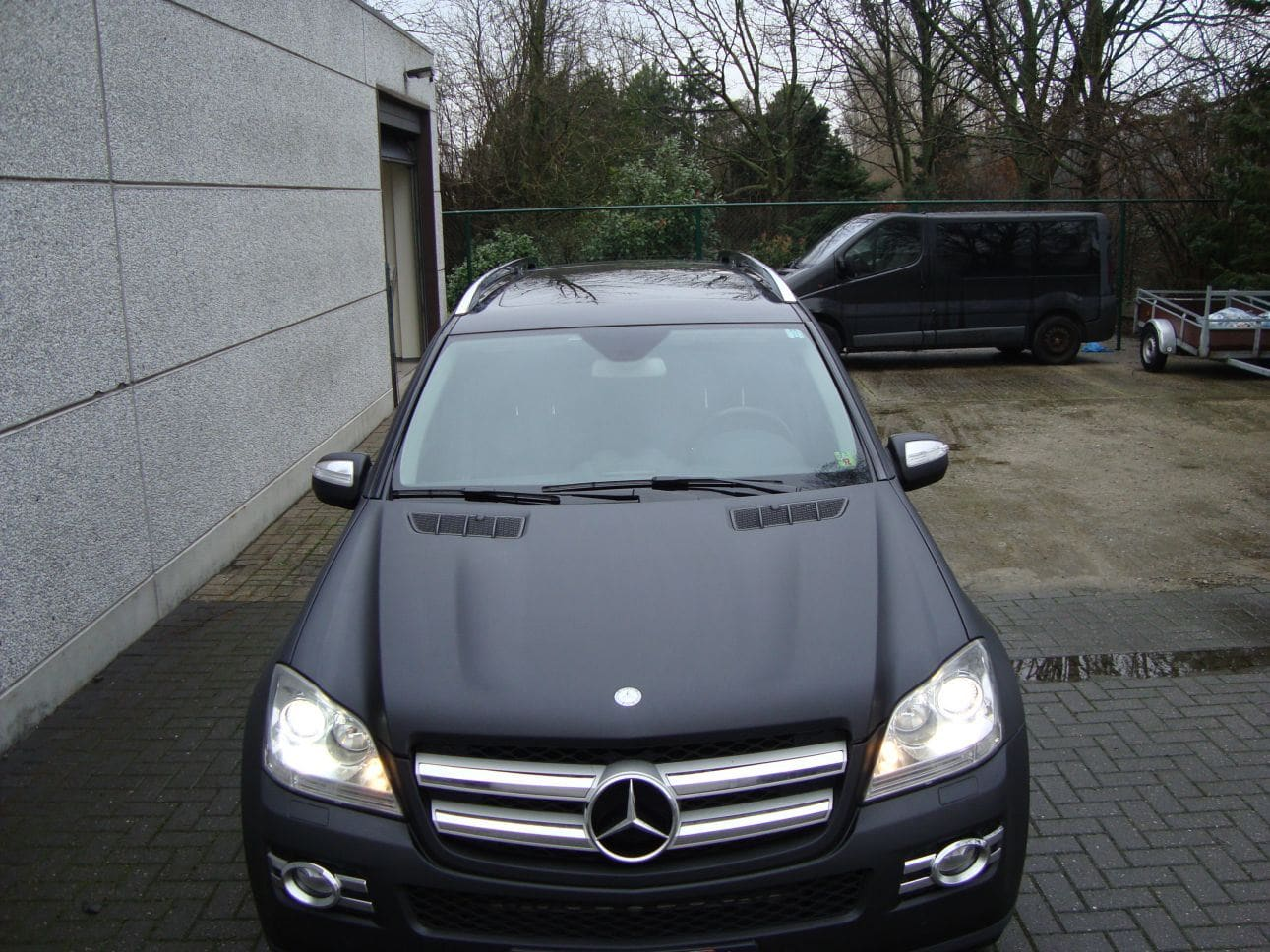 Mercedes GL met Mat Zwarte Wrap, Carwrapping door Wrapmyride.nu Foto-nr:6292, ©2021