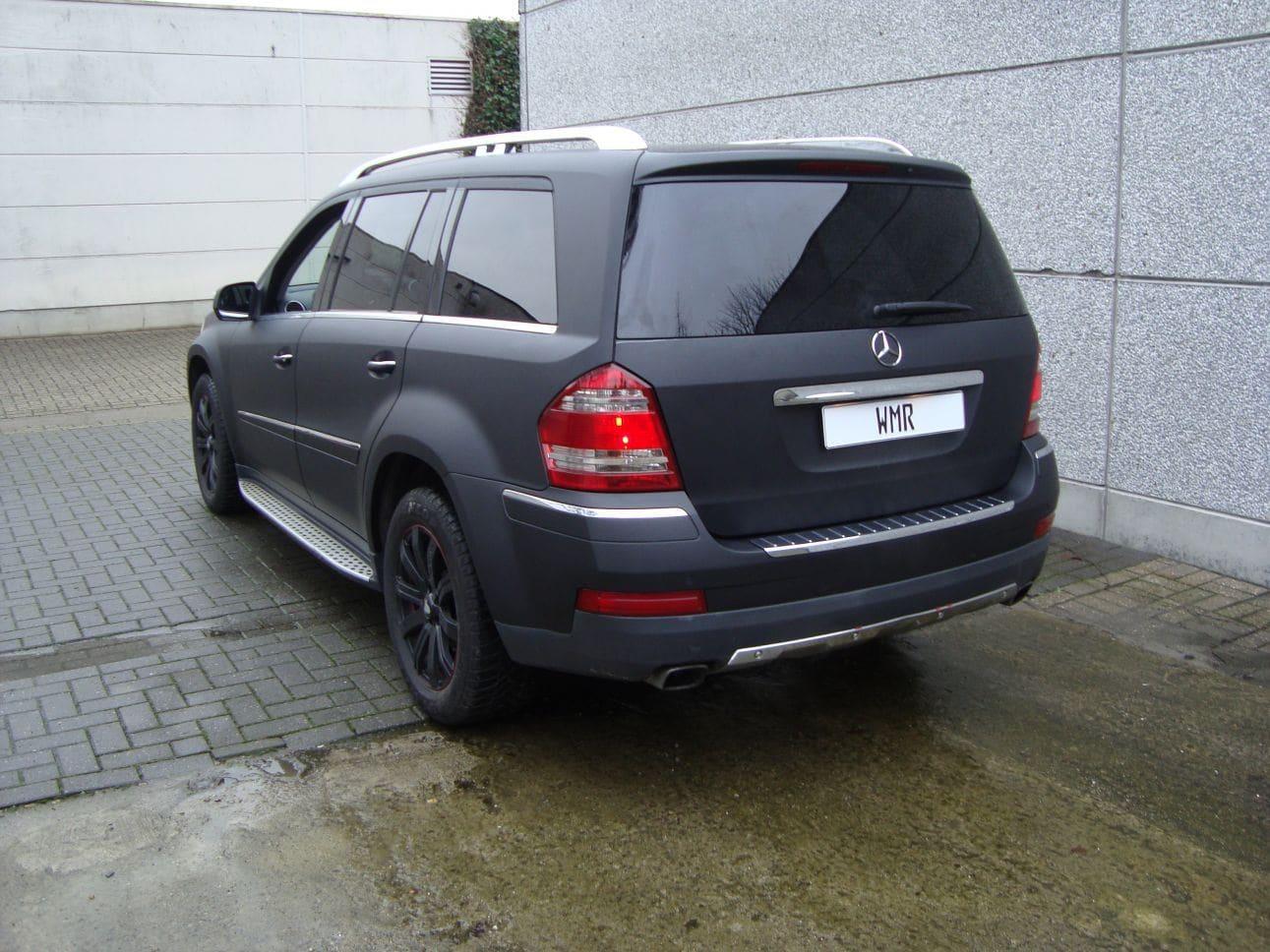 Mercedes GL met Mat Zwarte Wrap, Carwrapping door Wrapmyride.nu Foto-nr:6293, ©2021