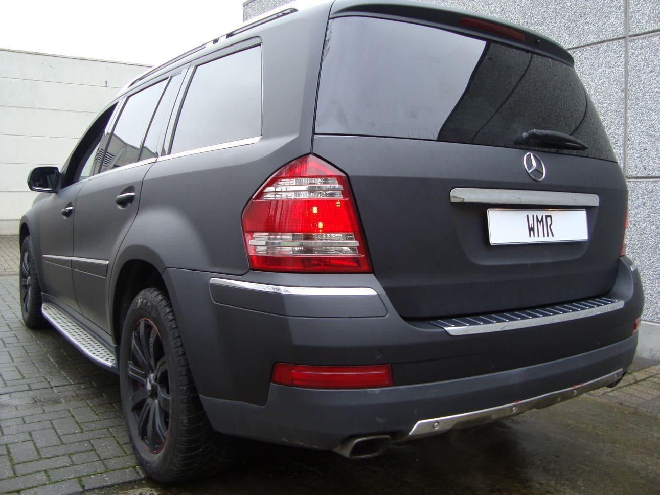 Mercedes GL met Mat Zwarte Wrap, Carwrapping door Wrapmyride.nu Foto-nr:6294, ©2021
