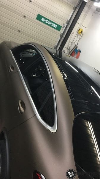 Mercedes GLC matte metallic brown, Carwrapping door Wrapmyride.nu Foto-nr:9564, ©2021