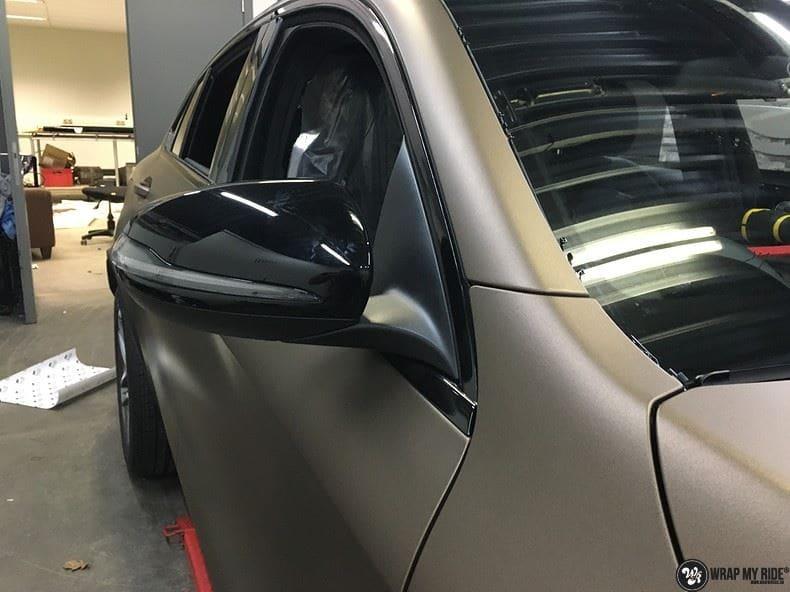 Mercedes GLC matte metallic brown, Carwrapping door Wrapmyride.nu Foto-nr:9560, ©2021