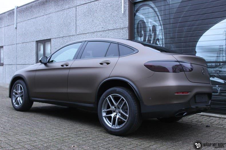 Mercedes GLC matte metallic brown, Carwrapping door Wrapmyride.nu Foto-nr:9549, ©2021