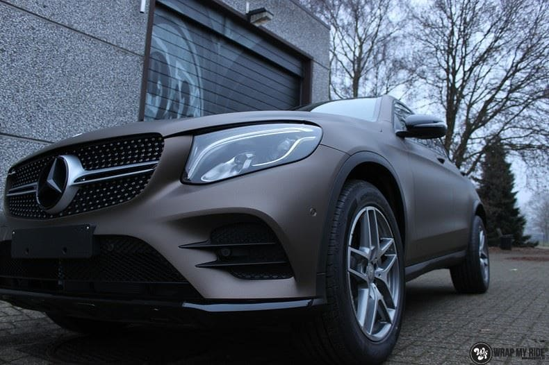 Mercedes GLC matte metallic brown, Carwrapping door Wrapmyride.nu Foto-nr:9546, ©2021