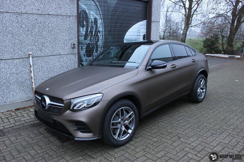 Mercedes GLC matte metallic brown, Carwrapping door Wrapmyride.nu Foto-nr:9543, ©2021