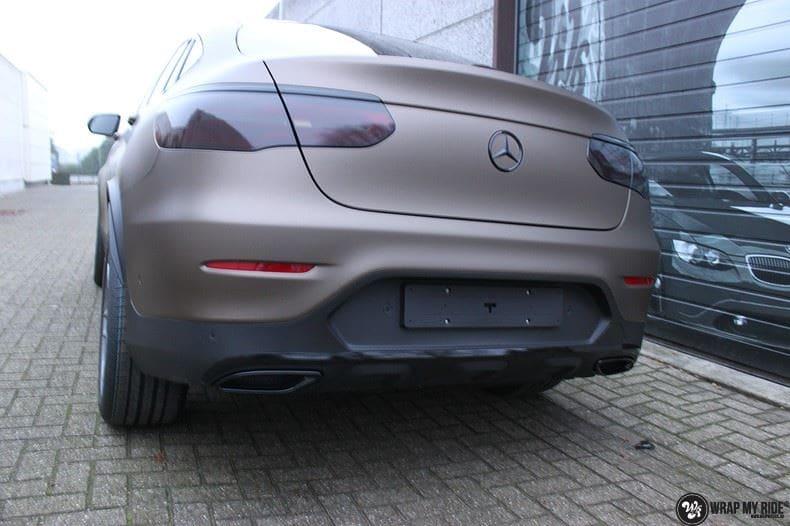 Mercedes GLC matte metallic brown, Carwrapping door Wrapmyride.nu Foto-nr:9538, ©2021