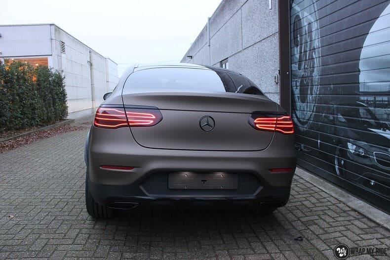 Mercedes GLC matte metallic brown, Carwrapping door Wrapmyride.nu Foto-nr:9536, ©2021