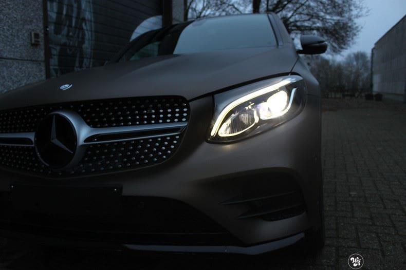 Mercedes GLC matte metallic brown, Carwrapping door Wrapmyride.nu Foto-nr:9534, ©2021