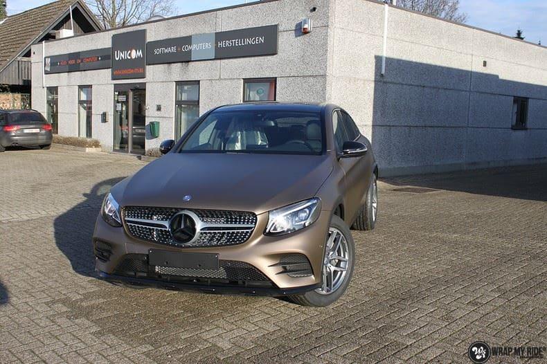 Mercedes GLC matte metallic brown, Carwrapping door Wrapmyride.nu Foto-nr:9530, ©2021