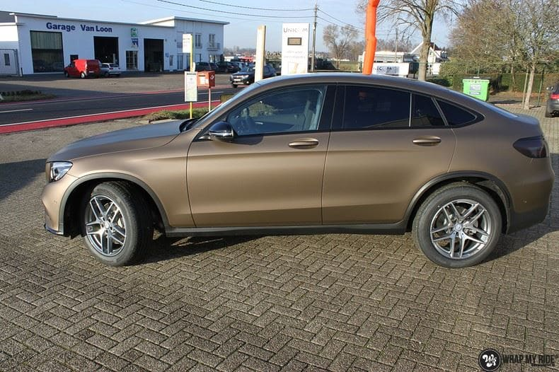 Mercedes GLC matte metallic brown, Carwrapping door Wrapmyride.nu Foto-nr:9522, ©2021