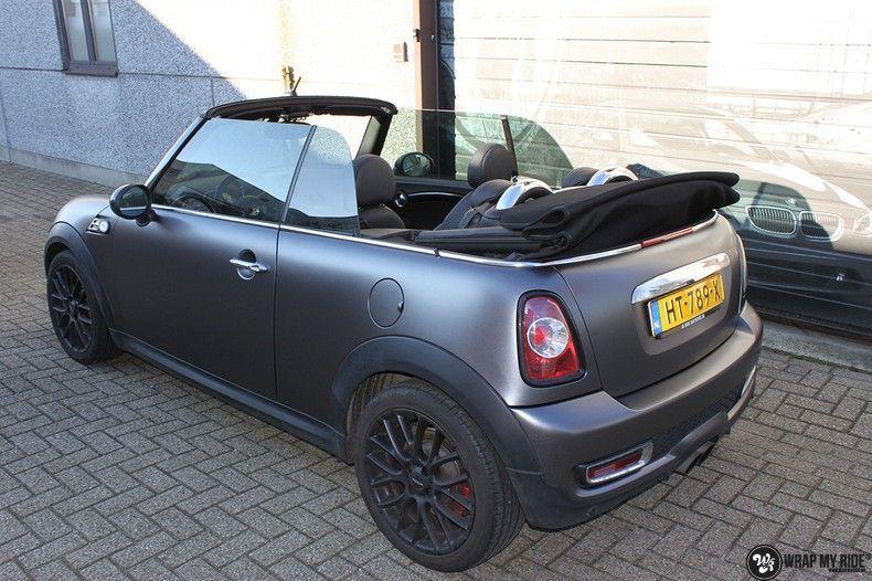 Mini cooper S cabrio Satin Dark Grey, Carwrapping door Wrapmyride.nu Foto-nr:10705, ©2021