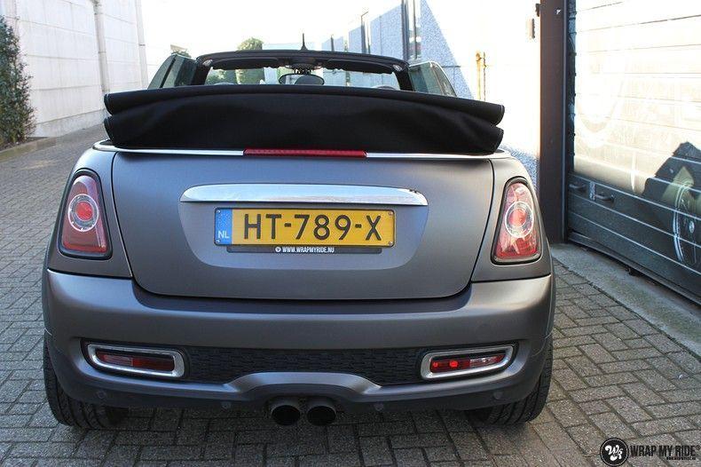 Mini cooper S cabrio Satin Dark Grey, Carwrapping door Wrapmyride.nu Foto-nr:10704, ©2021