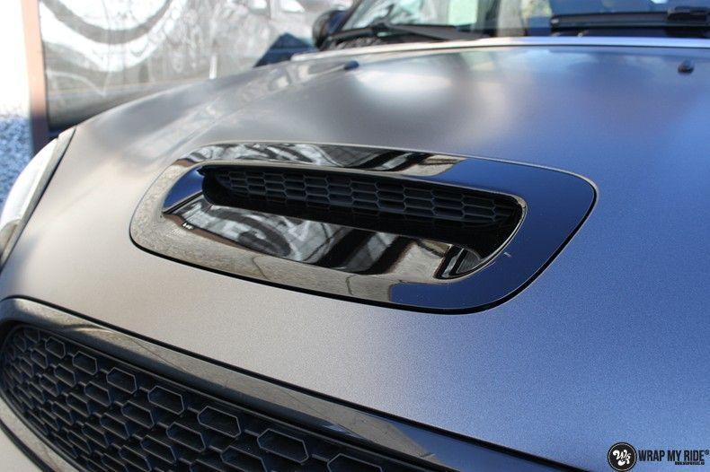Mini cooper S cabrio Satin Dark Grey, Carwrapping door Wrapmyride.nu Foto-nr:10702, ©2021