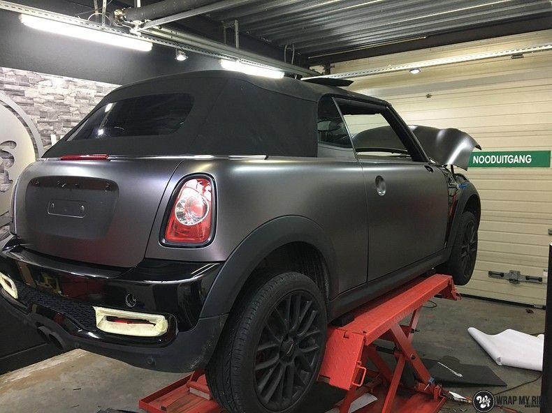 Mini cooper S cabrio Satin Dark Grey, Carwrapping door Wrapmyride.nu Foto-nr:10717, ©2021
