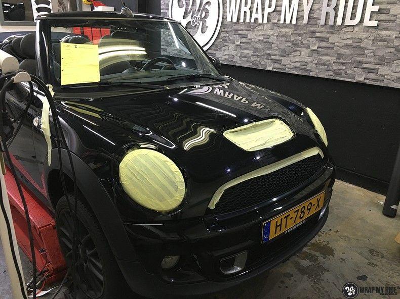 Mini cooper S cabrio Satin Dark Grey, Carwrapping door Wrapmyride.nu Foto-nr:10719, ©2021
