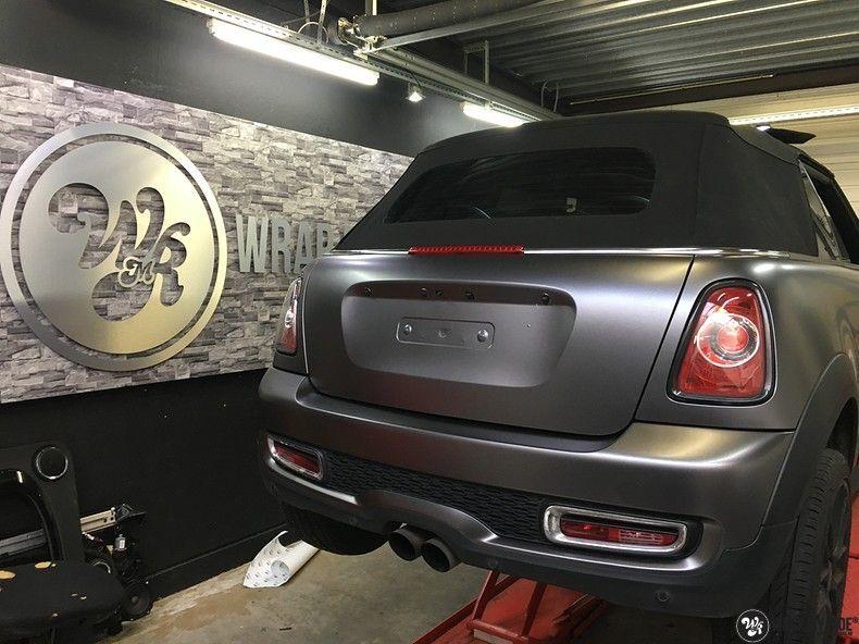 Mini cooper S cabrio Satin Dark Grey, Carwrapping door Wrapmyride.nu Foto-nr:10716, ©2021