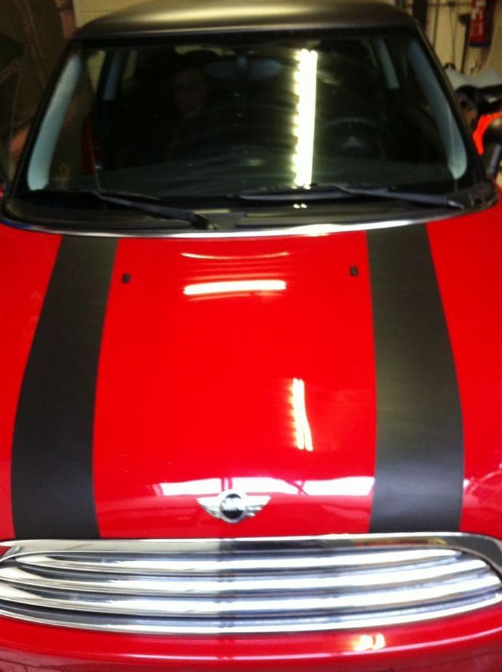 Mini Dak Zwart Gewrapt, Carwrapping door Wrapmyride.nu Foto-nr:6428, ©2021