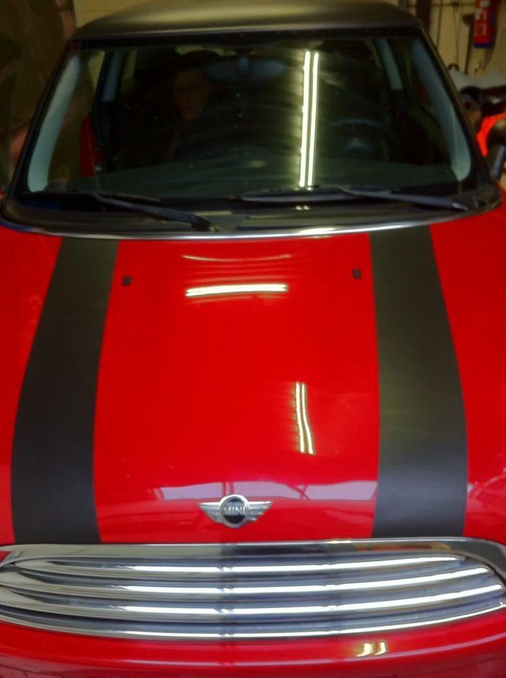Mini Dak Zwart Gewrapt, Carwrapping door Wrapmyride.nu Foto-nr:6429, ©2021