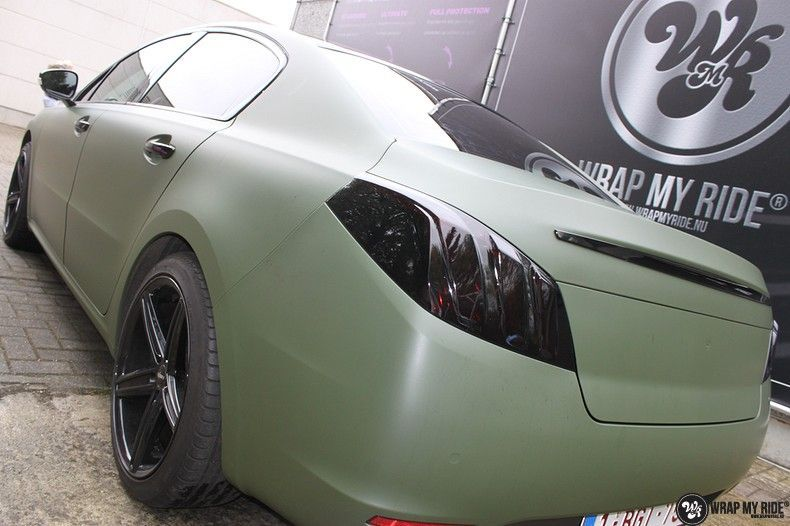 Peugeot 508 3m matte military green, Carwrapping door Wrapmyride.nu Foto-nr:11377, ©2021